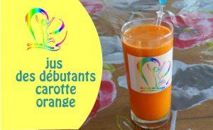 vignette de vidéo youtube jus des débutants carotte orange