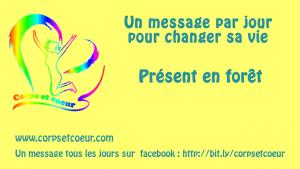 vignette de vidéo youtube un message par jour site corpsetcoeur.com, présent en forêt
