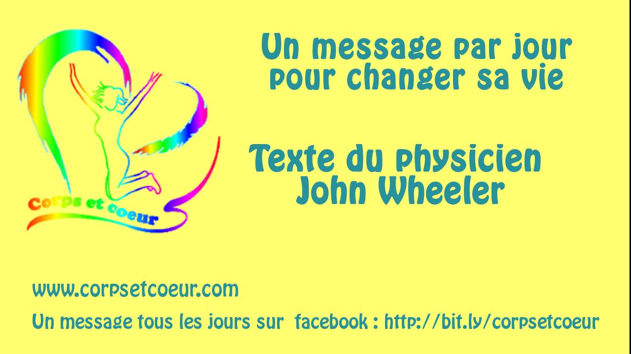 texte de john wheeler